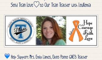 💙 Help Support Mrs. Emily Lamos, Elkins Pointe GNETs Teacher