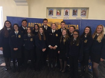 A total of 18 Gilbert FFA students attended this years State Leadership Conference.