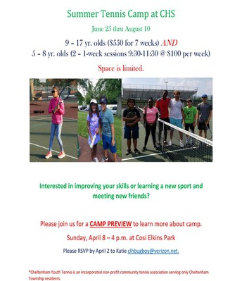 Tennis Camp Open House