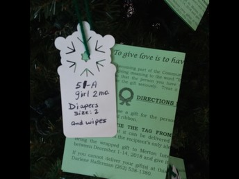 Up close view of one of the tags and an explanation