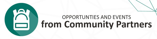 Opportunities and Events from community partners. Click here to view more.