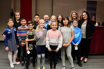 CLR Lab Classroom students recognized by Board