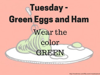 Tuesday - Green Eggs and Ham