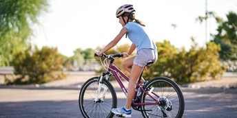 Safety First! Wear a helmet while riding your bike!