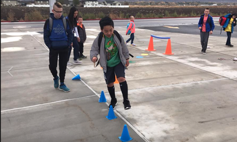 Walk & Bike to School Day's Obstacle Course