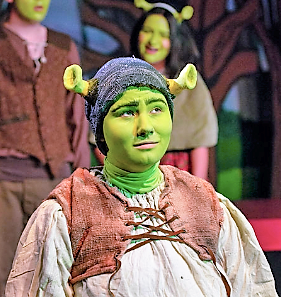 April Adelman in the Lead Roll of Shrek