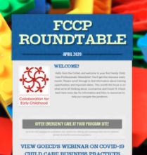 Family Child Care Professionals' Roundtable