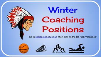 Winter Season Coaches needed
