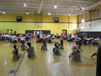 Dancers performing at Grandparents' Day