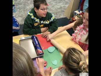 Kindergarten and 6th grade Reading Buddies