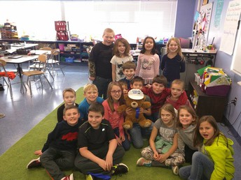Most Improved point (117 points in a month!)  Mrs. Baker and Mrs Escudero's class