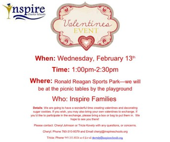 Inspire Valentine's Day Event in Temecula!