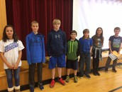 6th graders that received September Perfect Attendance Awards