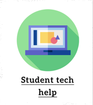 Click on Student Tech help picture for assistance.