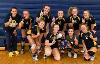 Varsity Volleyball takes 1st place @ Shepherd quad