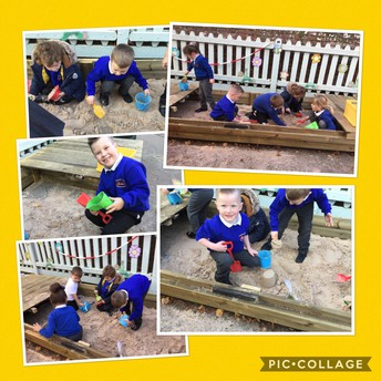 The new sand pit for Class 1.