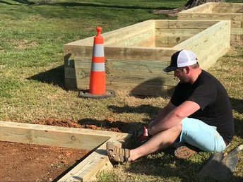 Building Our Raised Beds with the Help of Patrick Niland