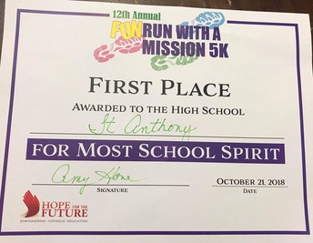 1st Place for Most School Spirit