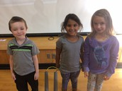 Kindergarten students that received September Perfect Attendance Awards
