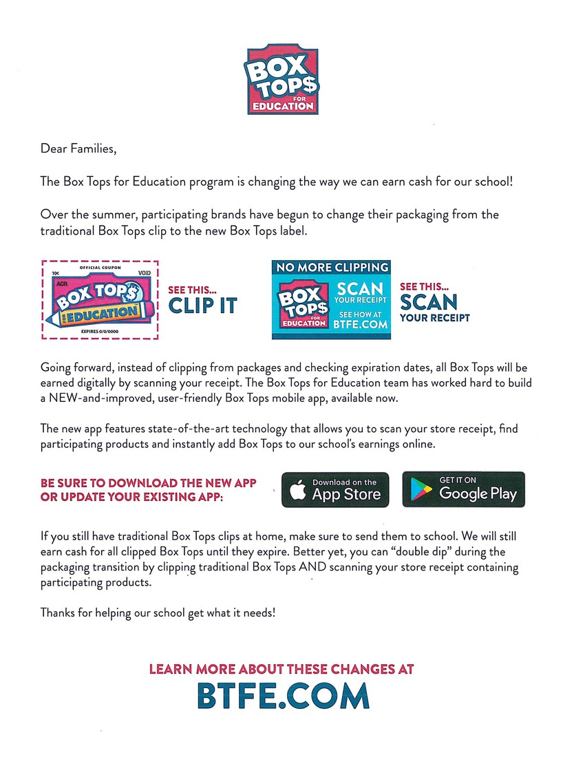 Box Tops for Education - Scan your receipt