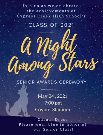 Senior Awards Night - A Night Among the Stars! May 24th