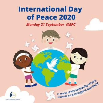 International Peace Day - by Mr Eamonn O'Callaghan