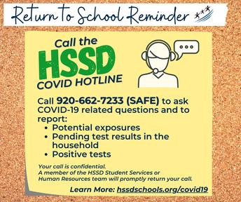 Call 920-662-7233 (SAFE)