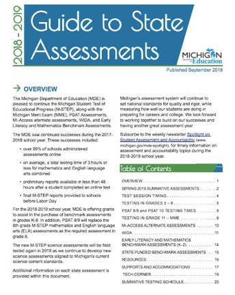 GUIDE TO STATE ASSESSMENTS