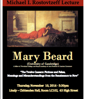 Mary Beard to Speak at Yale