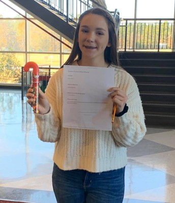 Allie earned a positive office referral for being intentional and proactive in wanting to make good decisions and promote kindness.