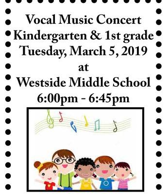 Kdg./1st Grade Vocal Music Concert