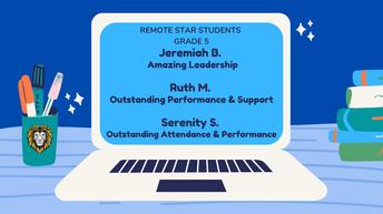 5th Grade Remote Star Students