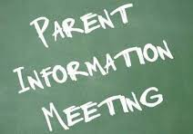 Agenda for parent meeting