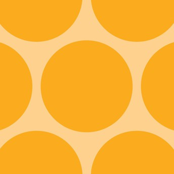 Gold circles on a light yellow background