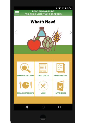 Now Available! Additional Capabilities for the Food Buying Guide (FBG) Mobile App!