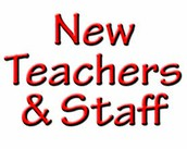 Welcome New Teachers & Staff