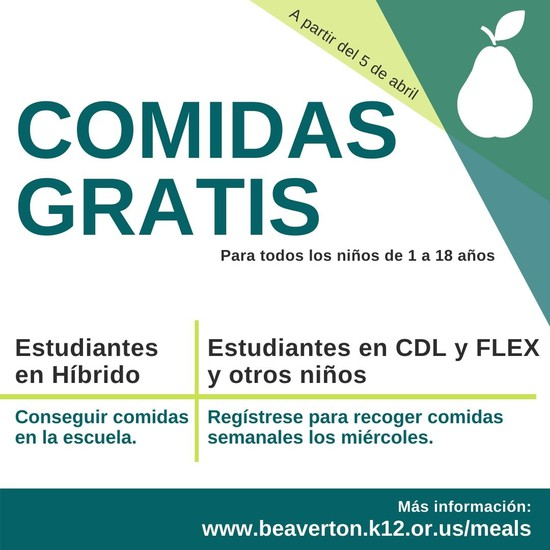 Spanish text free student meals