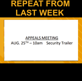 Appeals Meeting