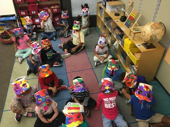 Kinder Lion masks