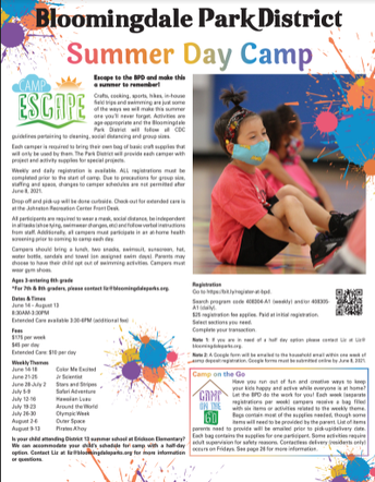 Bloomingdale Park District Summer Day Camp