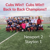 Newport High School Cubs Soccer Wins OSAA Championship!