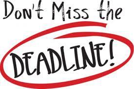 Student Plan Deadlines