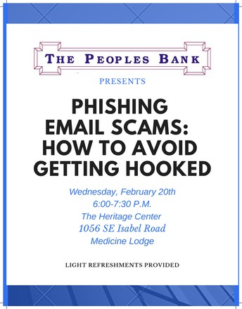 Phishing Scam Seminar Offered by the Peoples Bank
