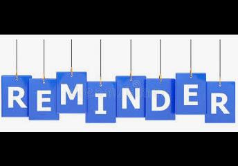 Helpful Reminders