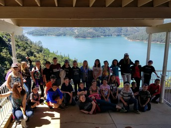 4th graders visited Shasta Lake last Friday