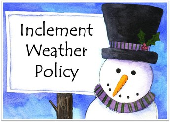 Inclement Weather Guidelines Letter