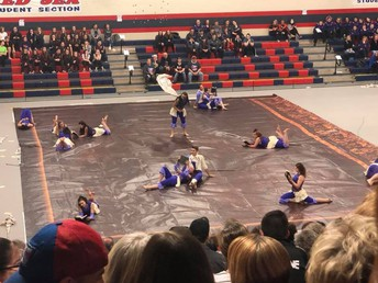 Color guard achieves First Place