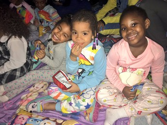 Girls from K1B loved spending time with each other in their PJ's!