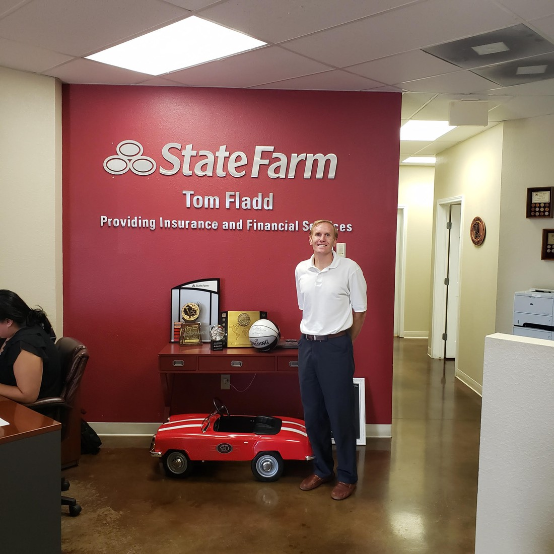 Thank you Tom Fladd and State Farm for the donation of water fountain covers!