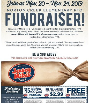 JERSEY MIKE'S FUNDRAISER!